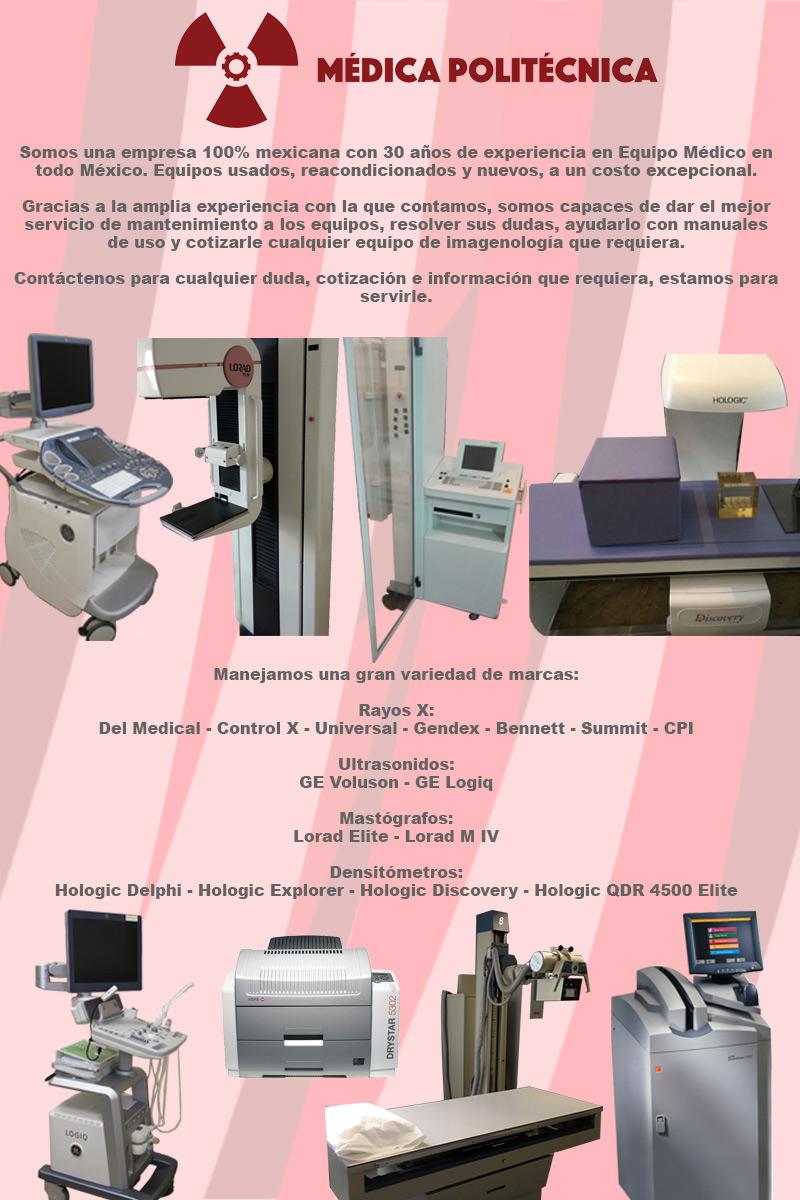 ultrasonidos mastografos densitometros rayos x digitalizadora reveladora ortopantografo